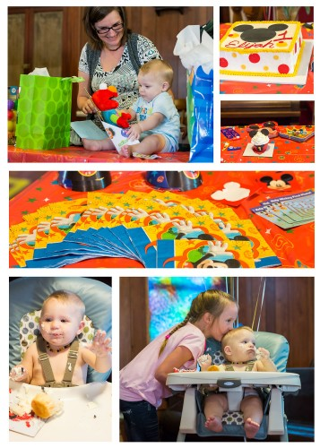 Mickey Mouse Party for Eli's 1st Birthday